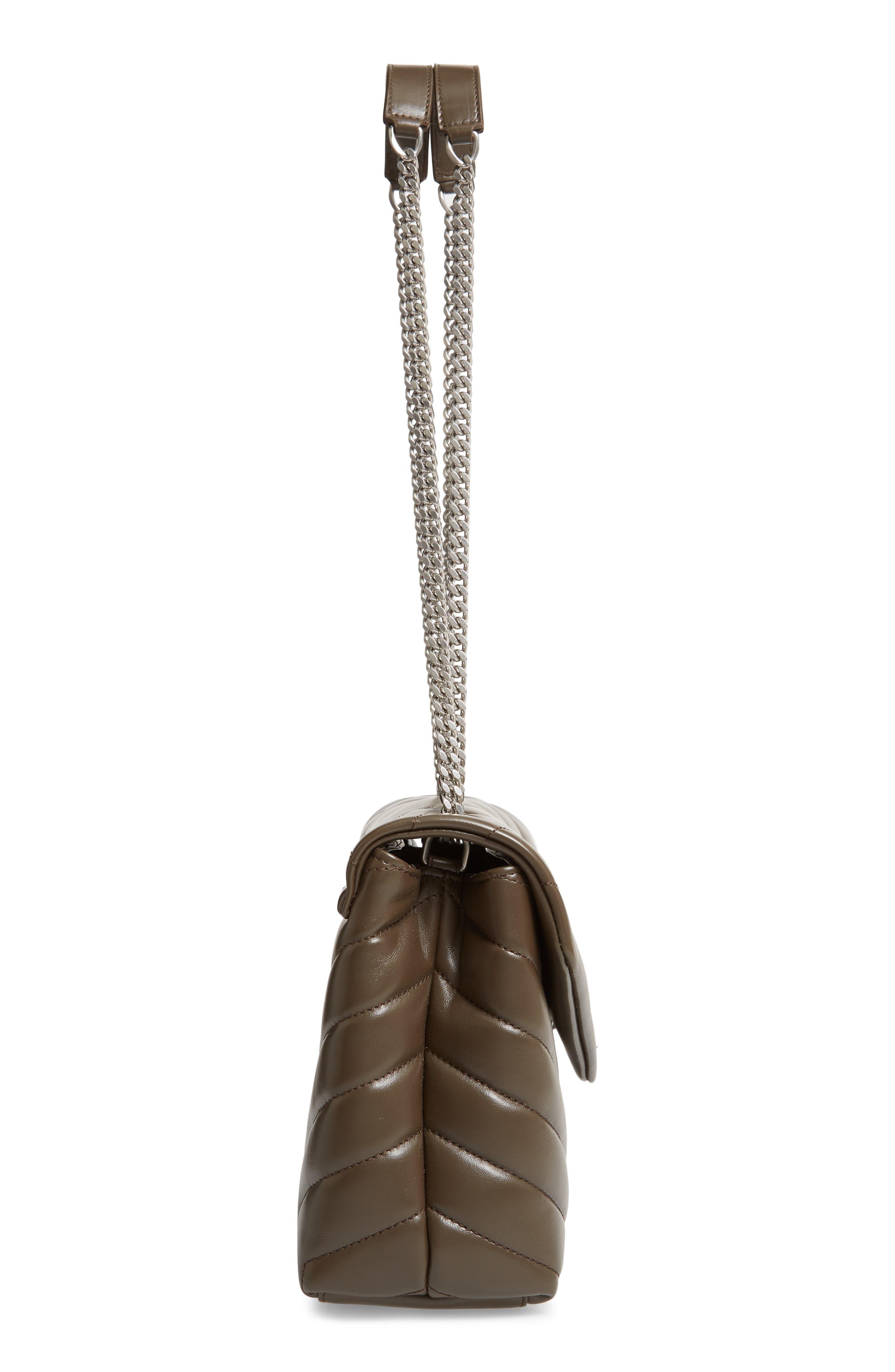 ,                             Small Loulou Matelassé Leather Shoulder Bag,                             Alternate thumbnail 5, color,                             FAGGIO/ FAGGIO