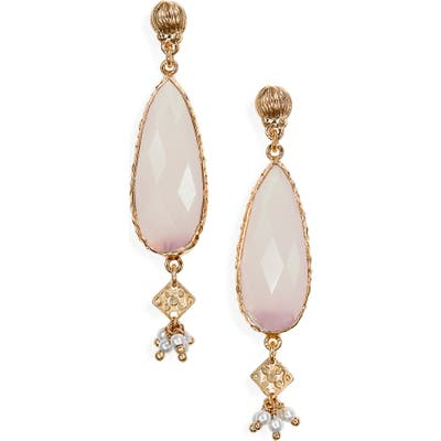Gas Bijoux Serti Goutte Drop Earrings