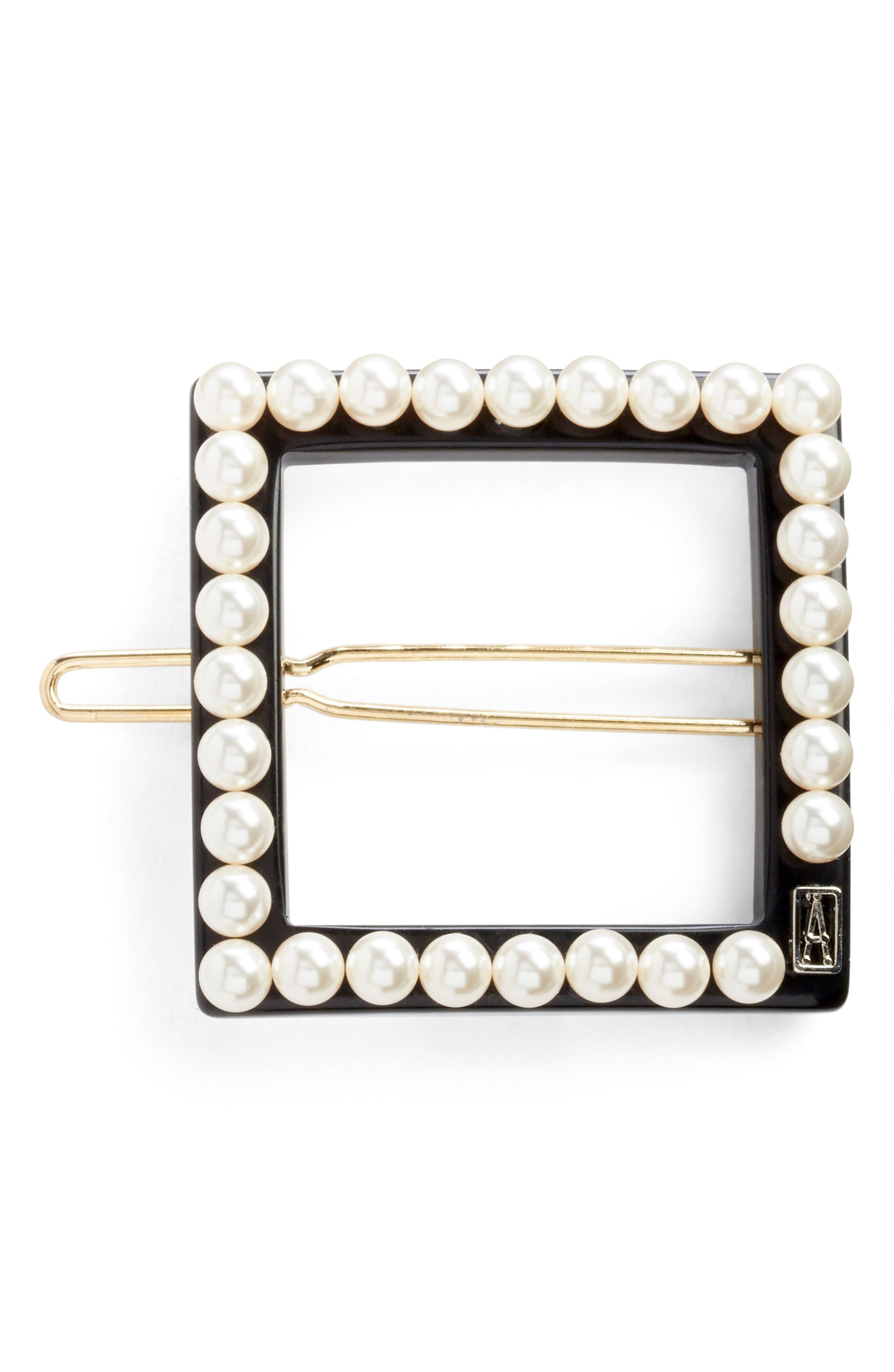 Imitation Pearl Embellished Barrette
