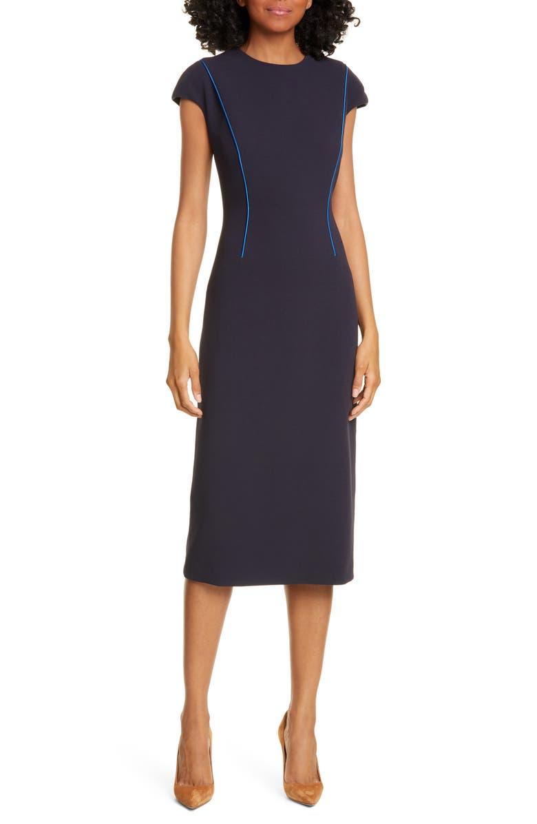 JUDITH & CHARLES Alta Sheath Dress, Main, color, MIDNIGHT