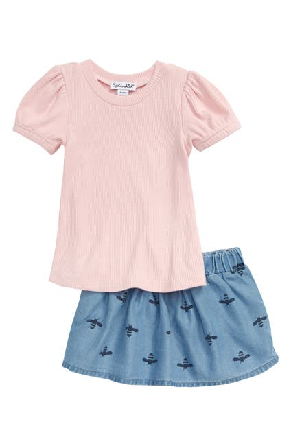 Image of Splendid Bee Print Skirt Set