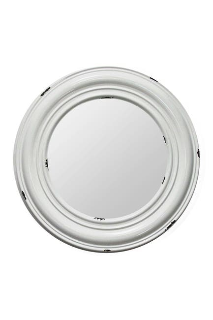 Image of Stratton Home White Priscilla Metal Mirror