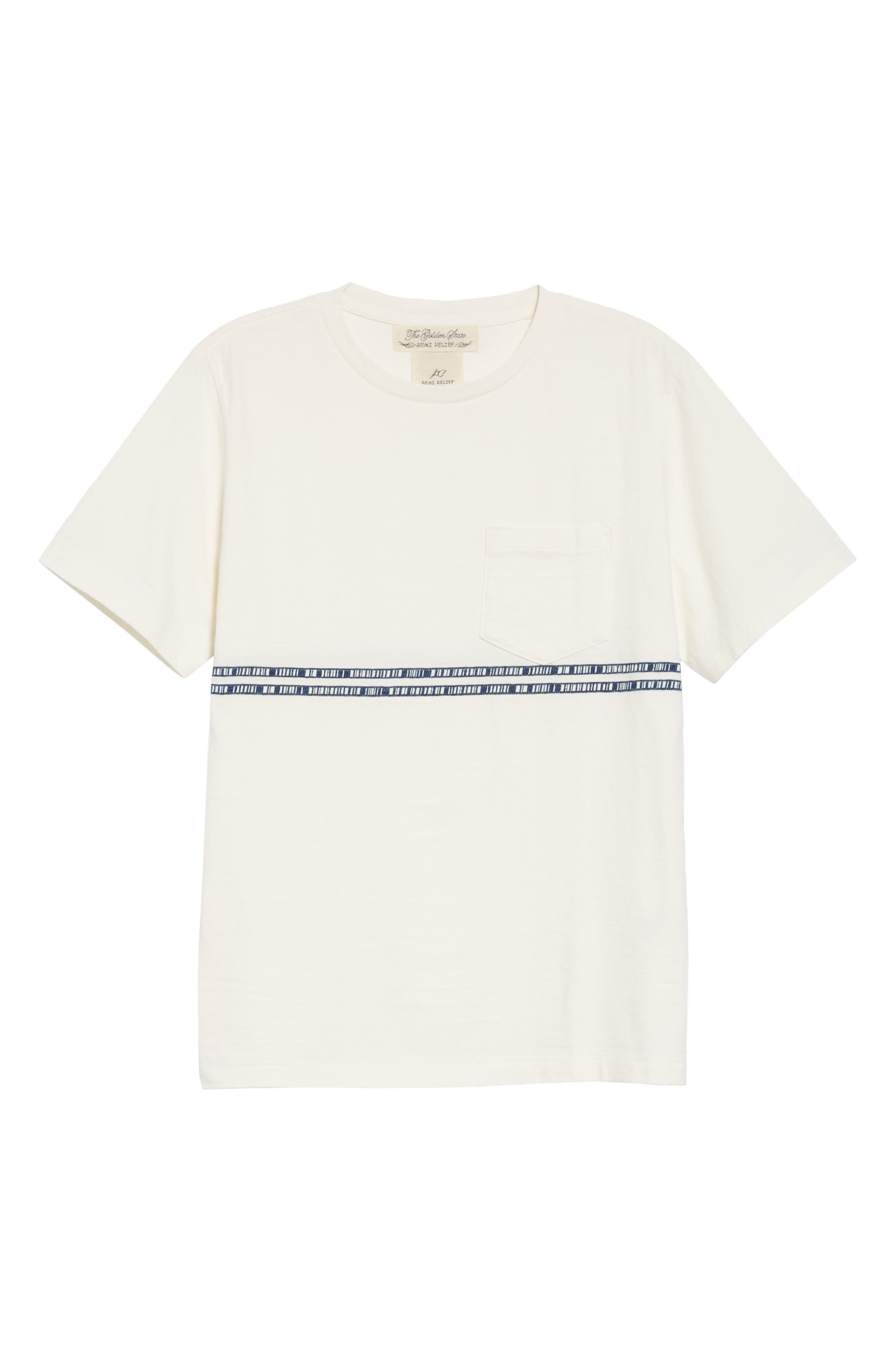 ,                             Embroidered Stripe T-Shirt,                             Alternate thumbnail 6, color,                             100