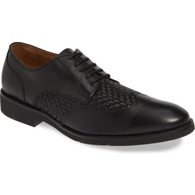 Johnston & Murphy Carlson Woven Wingtip Derby- Black