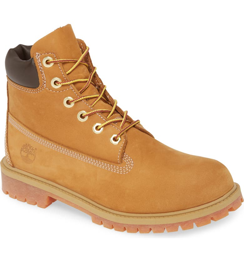 TIMBERLAND 6-Inch Premium Waterproof Boot, Main, color, WHEAT NUBUCK YELLOW