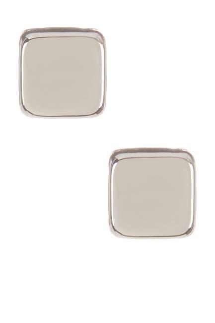 Image of Candela 14K White Gold Cube Stud Earrings