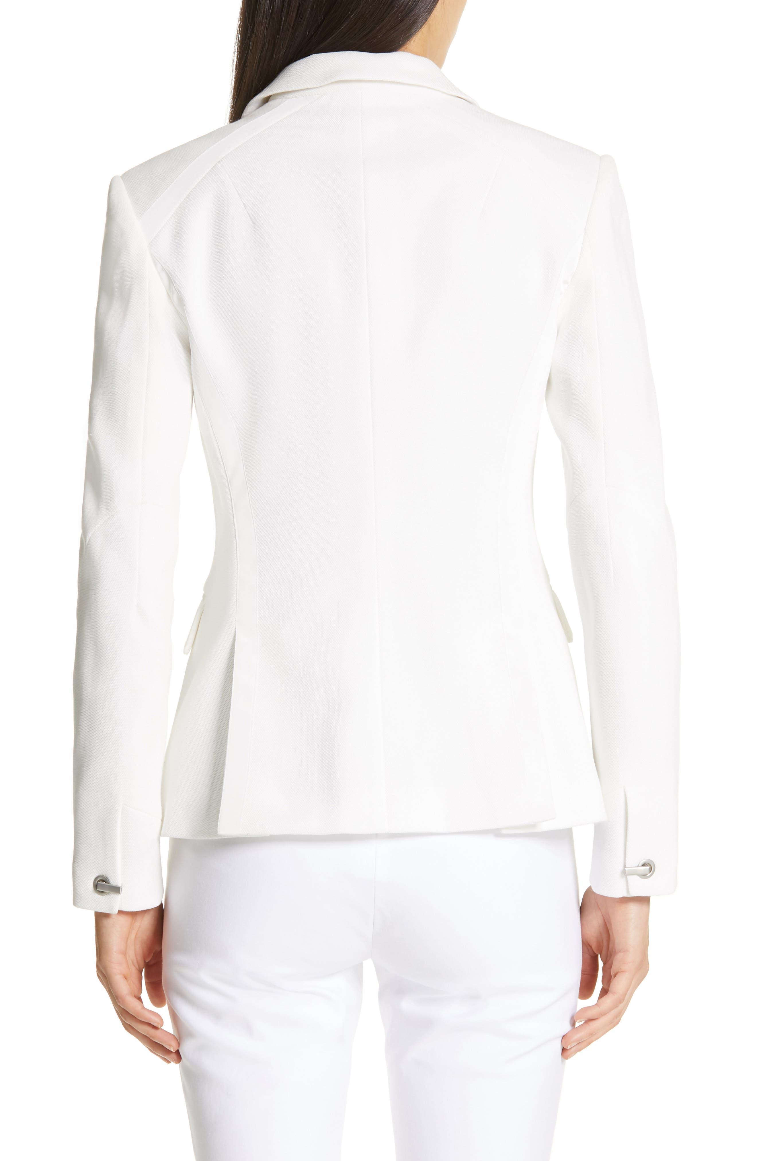 ,                             Lexington Cotton Piqué Blazer,                             Alternate thumbnail 2, color,                             OFF WHITE