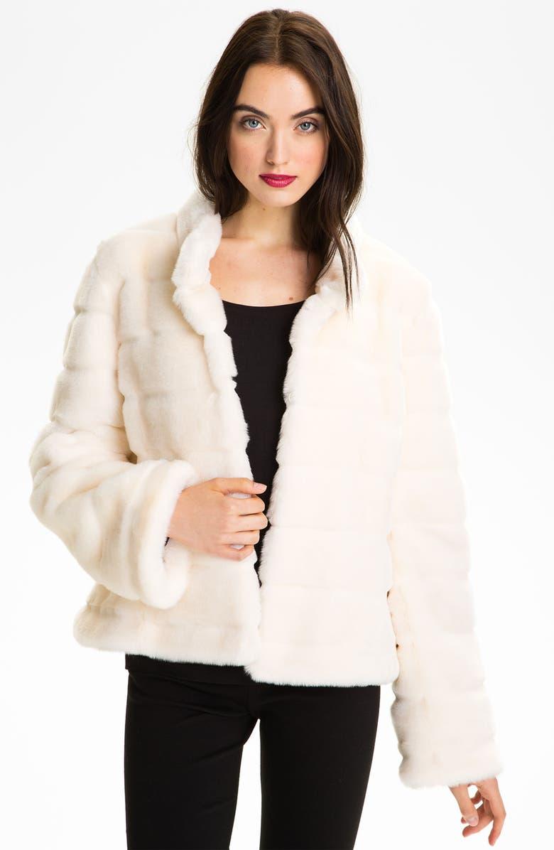 KRISTEN BLAKE Faux Fur Jacket, Main, color, 900