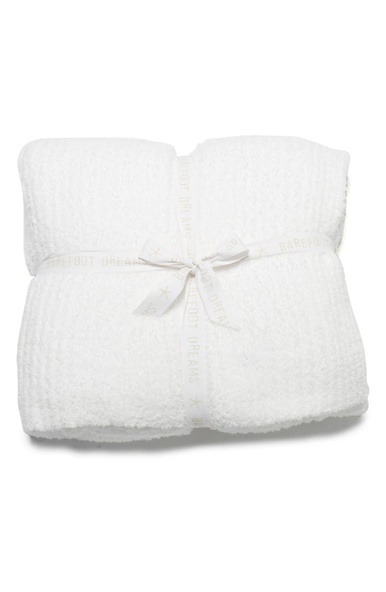 BAREFOOT DREAMS<SUP>®</SUP> CozyChic<sup>®</sup> Ribbed Throw Blanket, Main, color, WHITE