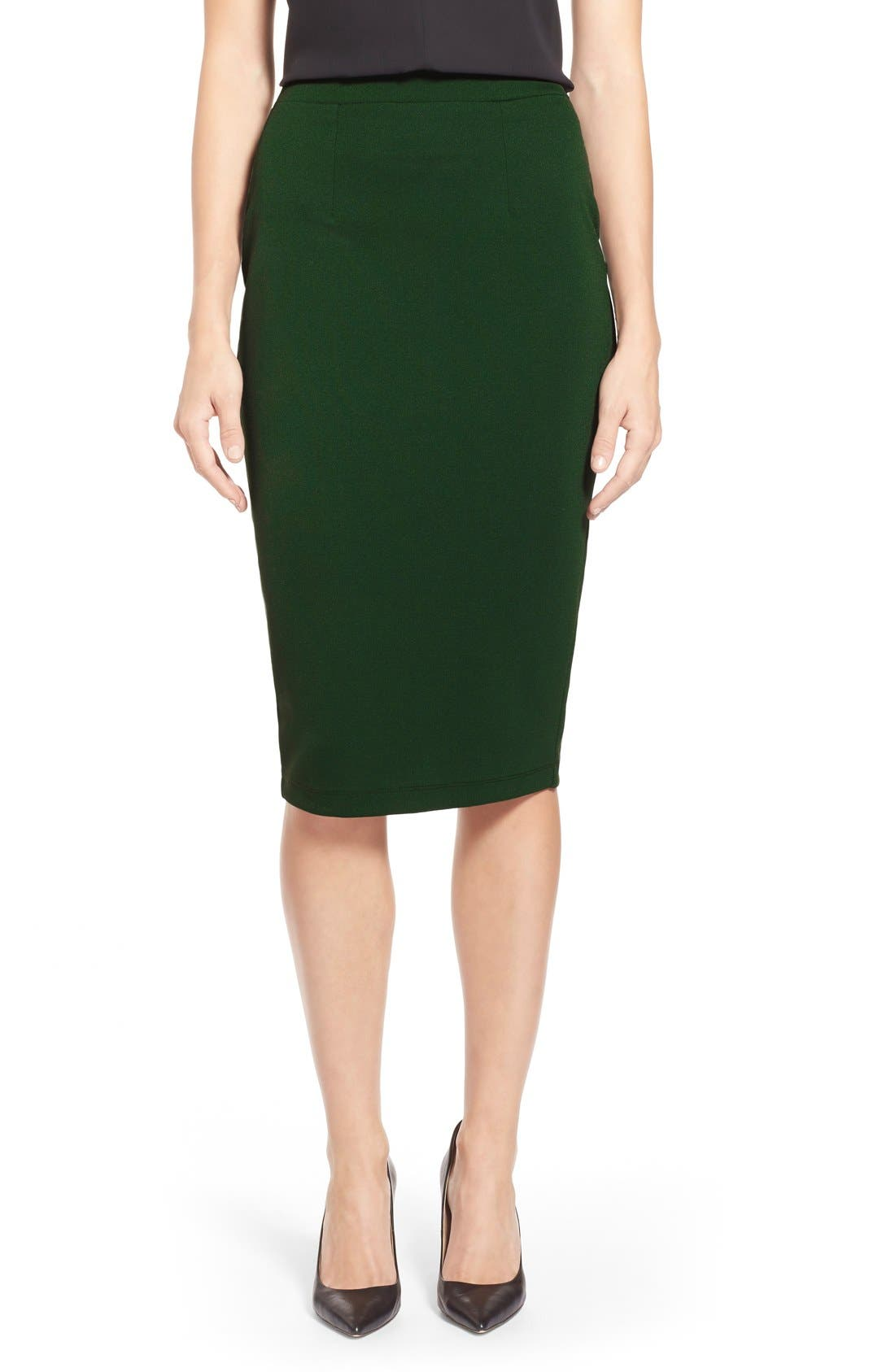 ,                             Zip Back Knit Pencil Skirt,                             Main thumbnail 7, color,                             301