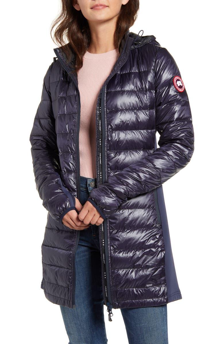 CANADA GOOSE Hybridge Lite Hooded Packable Down Coat, Main, color, NAVY