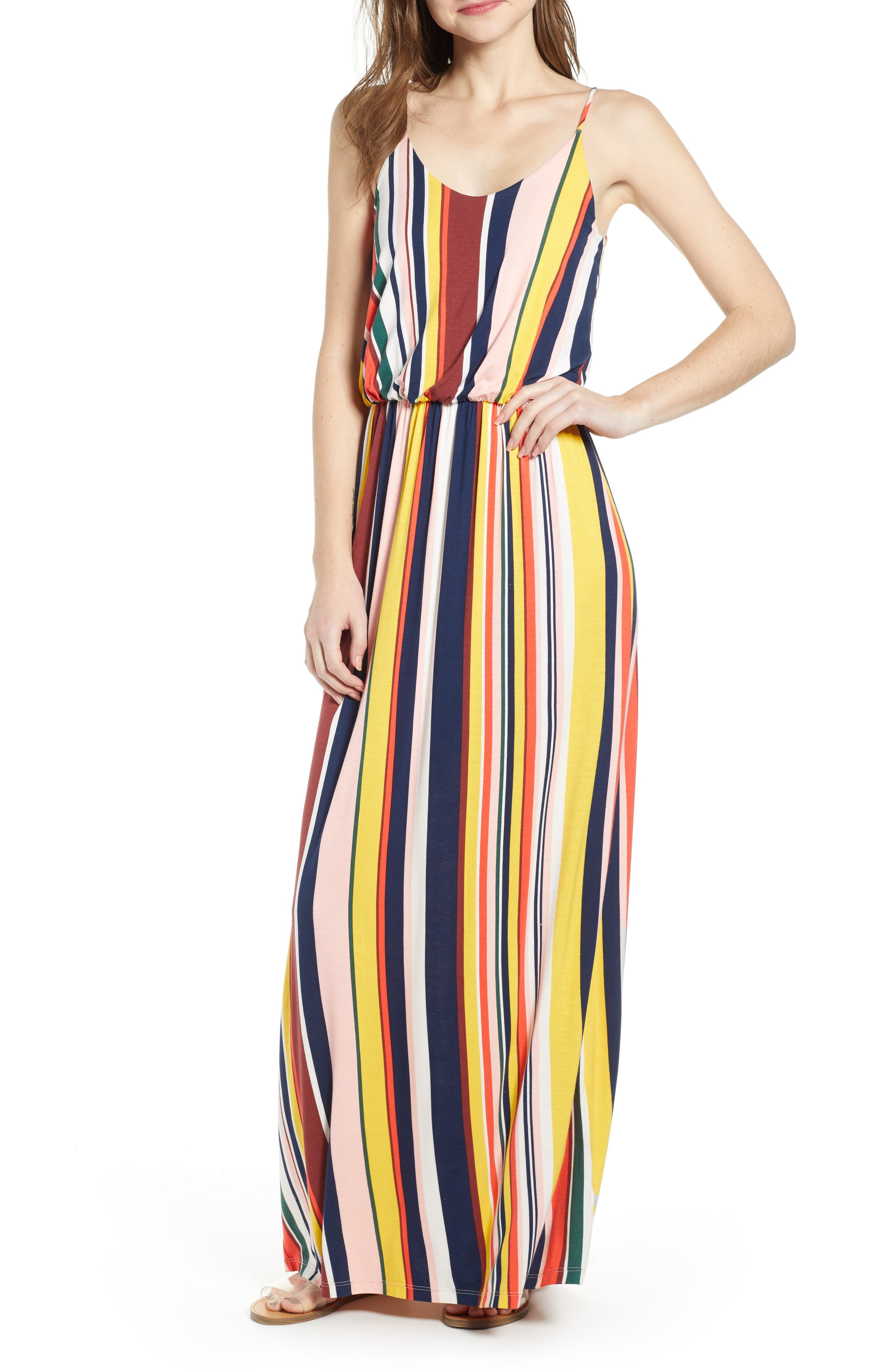 All In Favor Knit Maxi Dress, Yellow