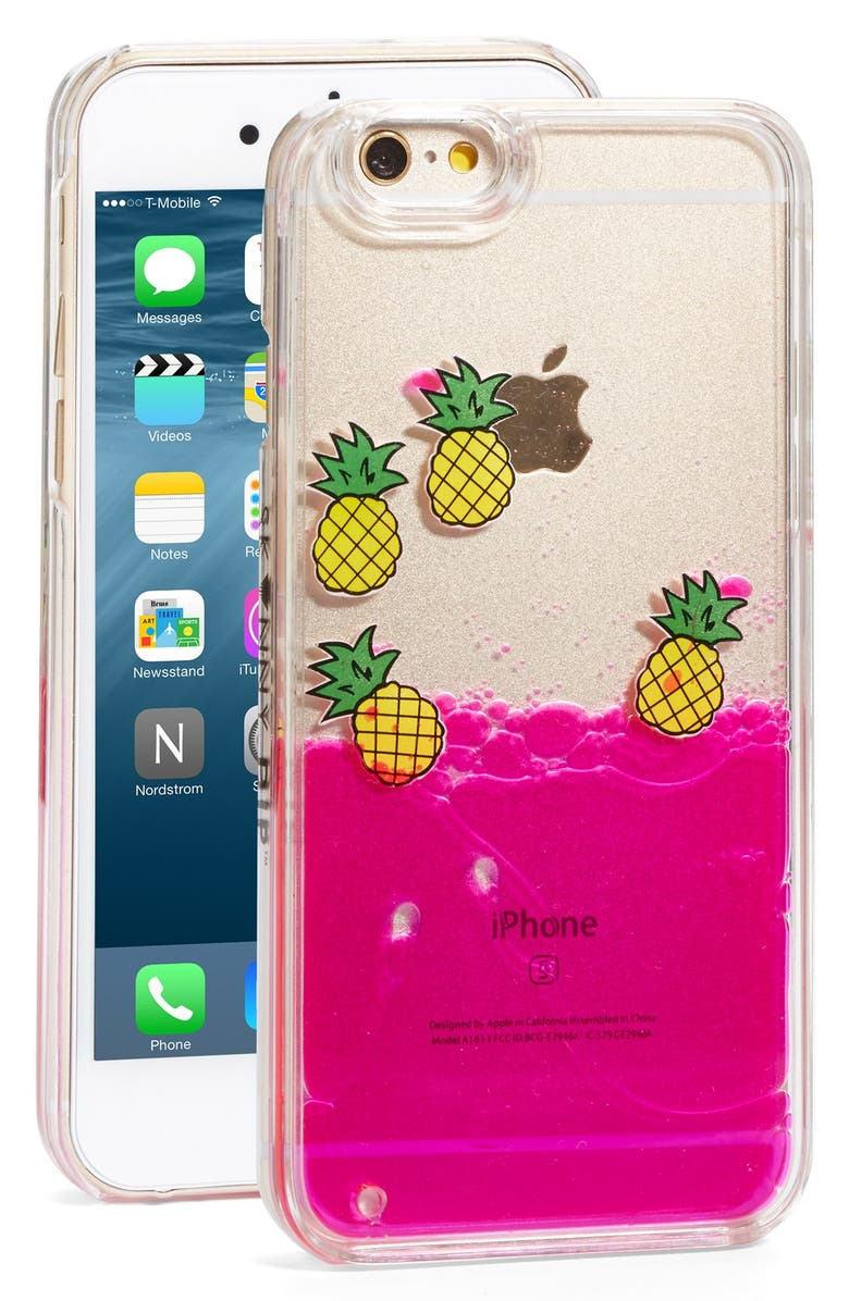 SKINNYDIP Pineapple Charm iPhone 6/6s Case, Main, color, 650