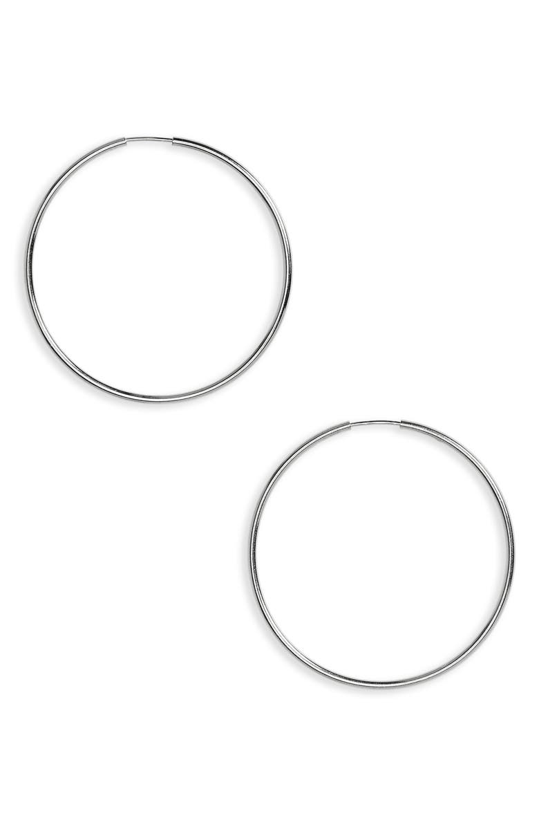 ARGENTO VIVO STERLING SILVER Argento Vivo Endless Hoops, Main, color, SILVER