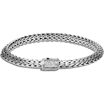 John Hardy Tiga Chain Diamond Clasp 6.m Bracelet