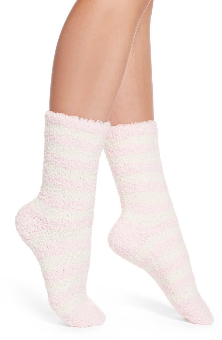 NORDSTROM Butter Crew Socks, Main, color, PINK VEIL ROSE STRIPE