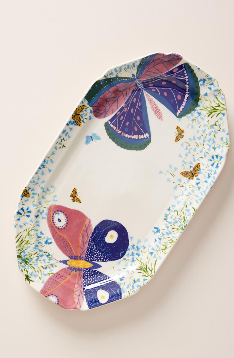 Anthropologie Paule Marrot Butterfly Platter