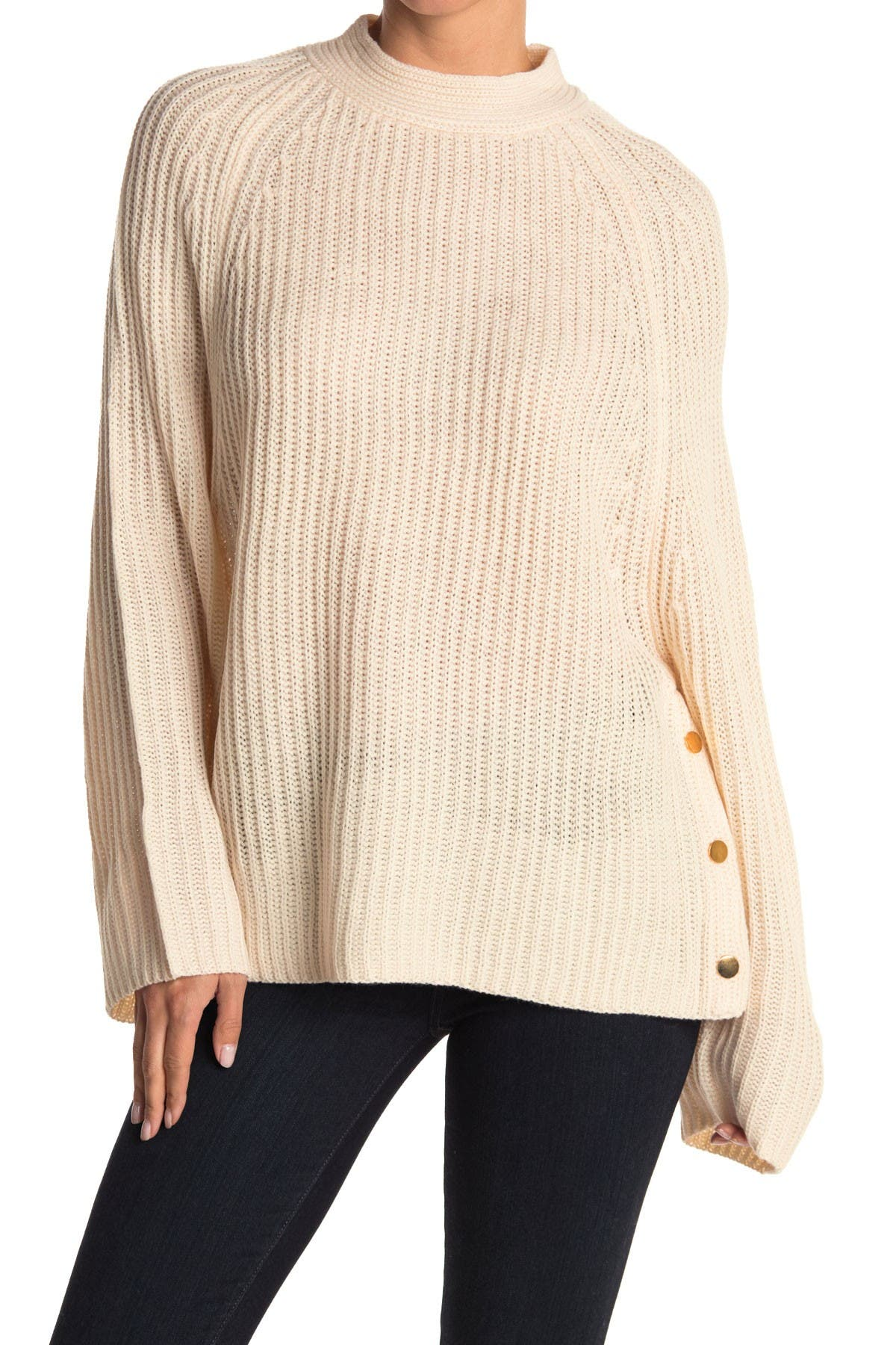 Image of HYFVE Mock Neck Oversized Sweater