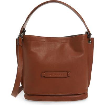 Longchamp 3D Leather Bucket Bag - Brown