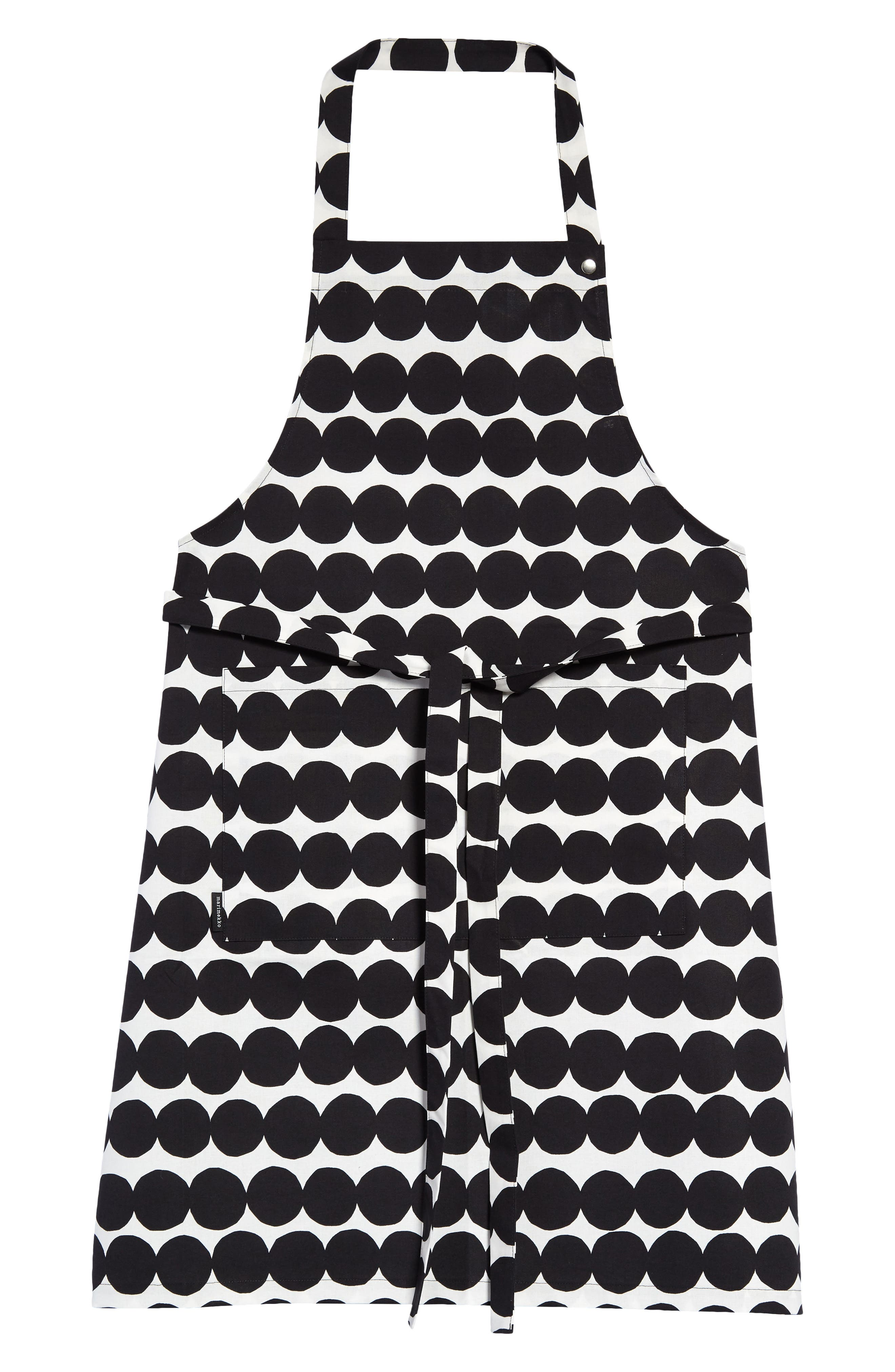Cook up a storm in modern style wearing a cotton apron with Marimekko\\\'s bold and fun Finnish-dot pattern. Style Name: Marimekko Rasymatto Apron. Style Number: 6119511. Available in stores.
