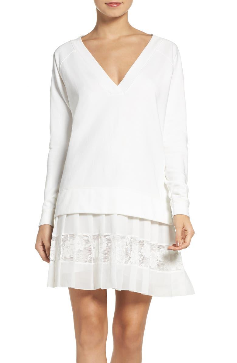 FRENCH CONNECTION Eliza Drop Waist Dress, Main, color, 101