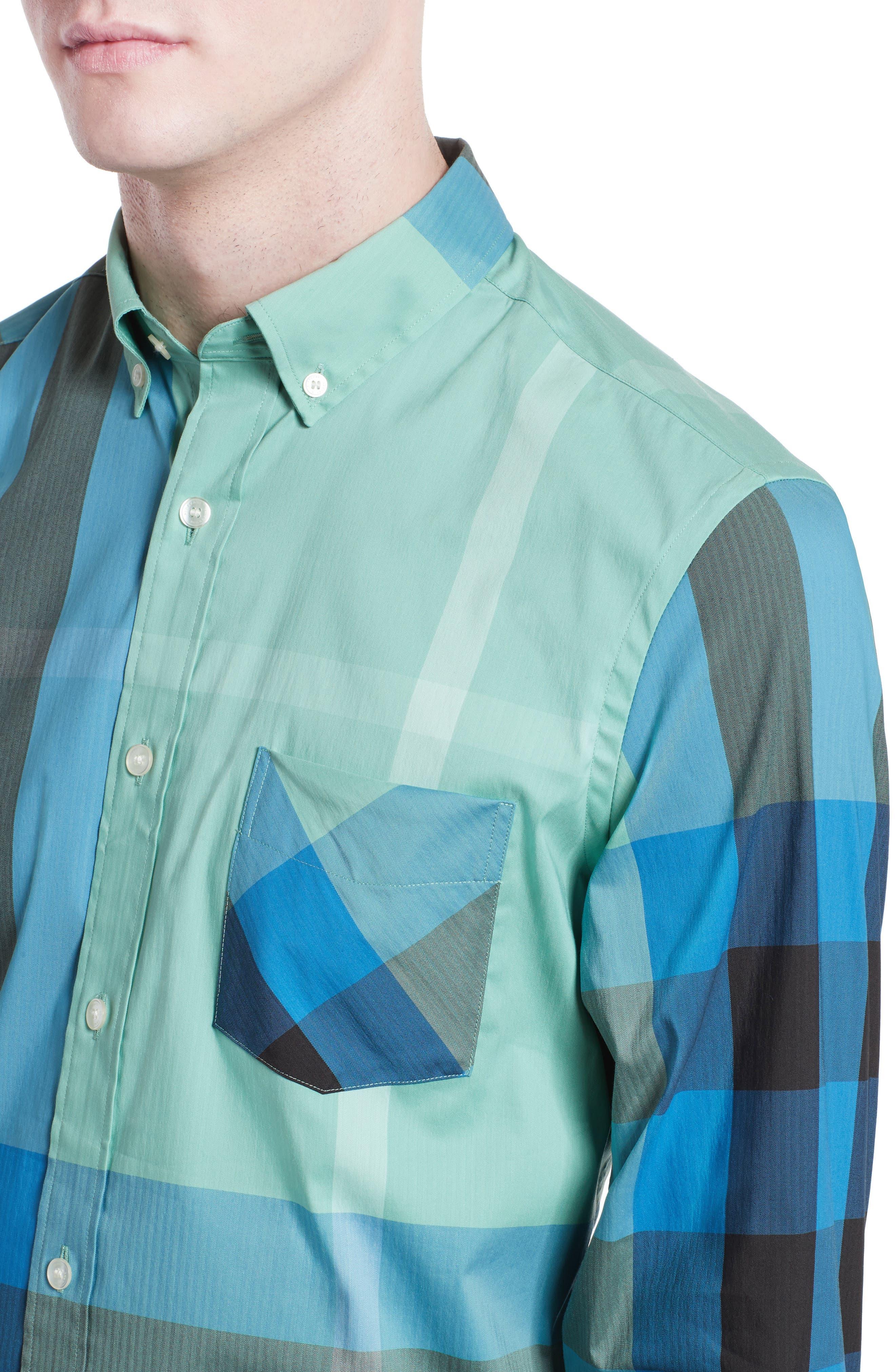 ,                             Thornaby Slim Fit Plaid Sport Shirt,                             Alternate thumbnail 35, color,                             453