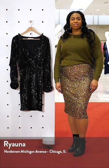 Balloon Sleeve Sequin Dress, sales video thumbnail