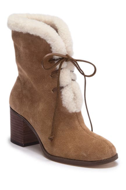 Image of Splendid Cassidy Faux Fur Lace-Up Boot