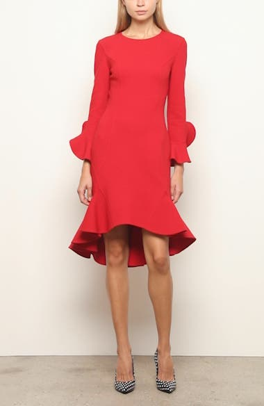 Michael Kors Flounce Sleeve Sheath Dress, video thumbnail