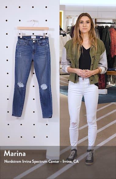 Le Skinny de Jeanne Distressed Ankle Skinny Jeans, sales video thumbnail
