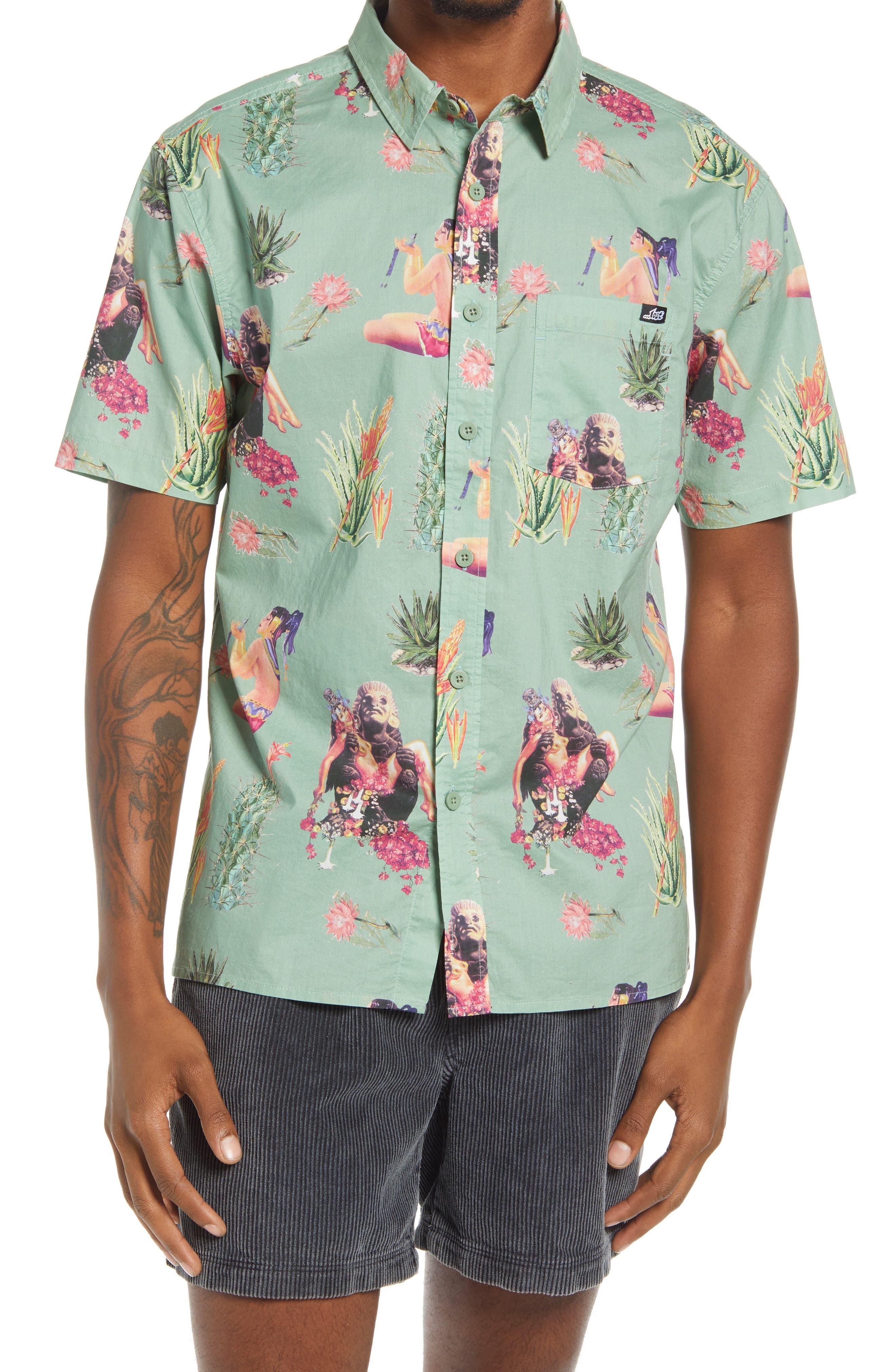 Maya Queen Short Sleeve Button-Up Shirt