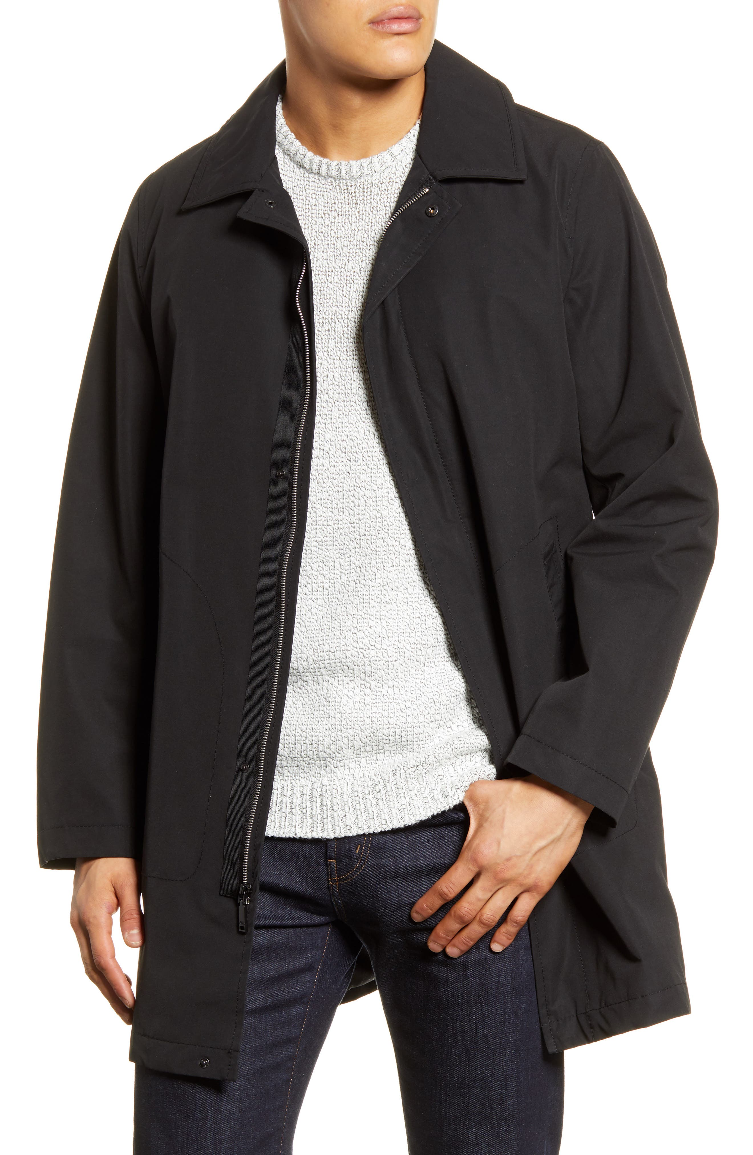 Image of Vince Camuto Cotton Poly Walker Coat