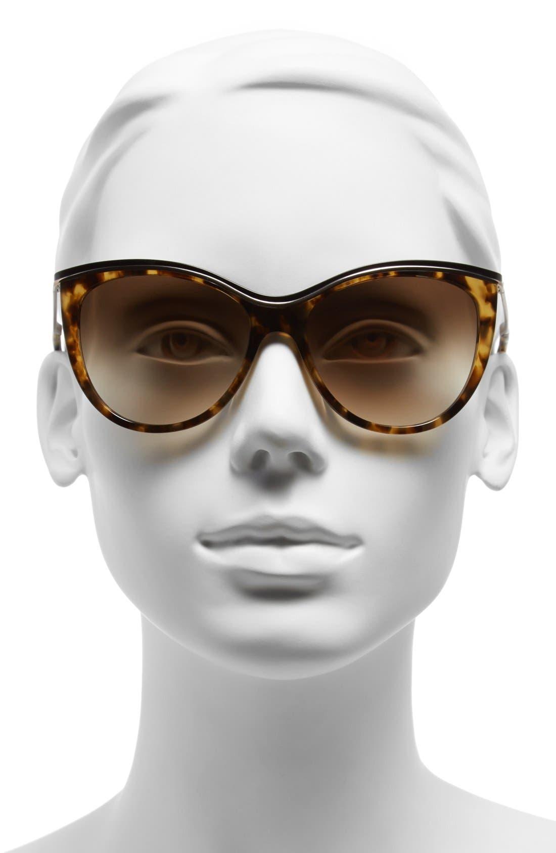 ,                             56mm cat eye sunglasses,                             Alternate thumbnail 4, color,                             200