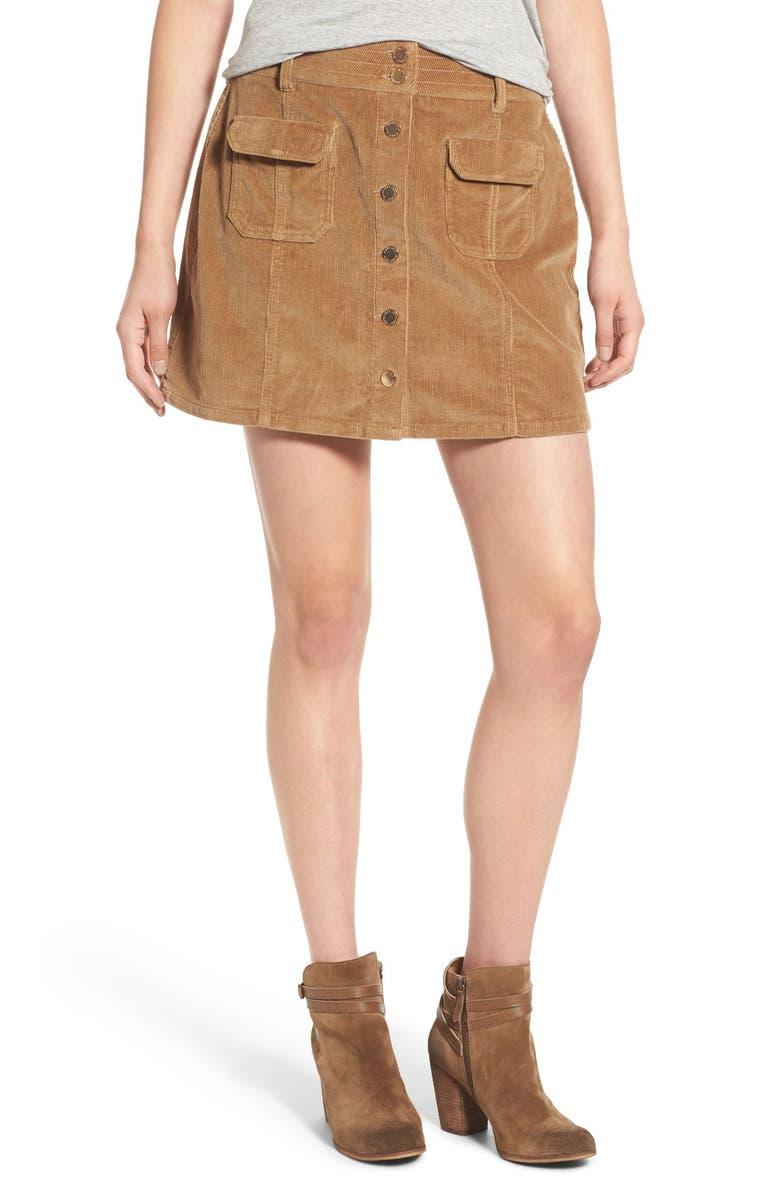 JOLT A-Line Corduroy Skirt, Main, color, 200