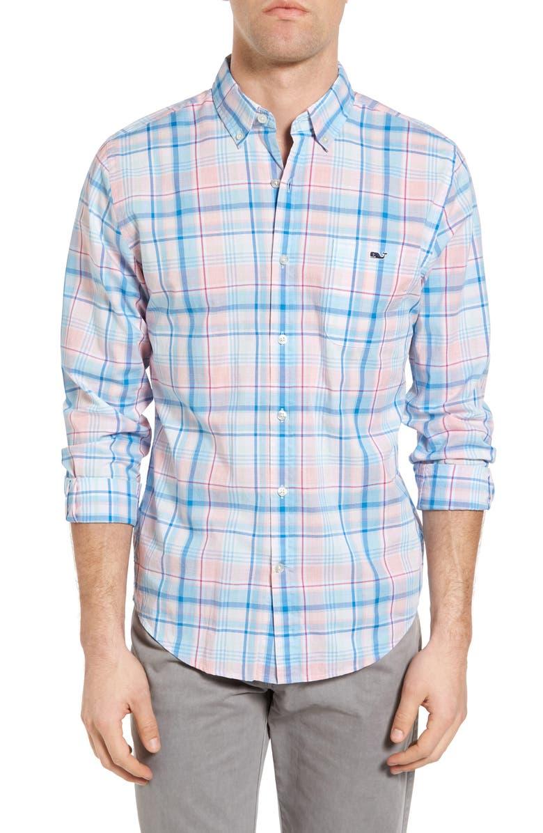 VINEYARD VINES Sabab Rock Tucker Slim Fit Plaid Sport Shirt, Main, color, 684