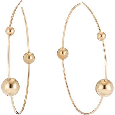Lana Jewelry Hollow Ball Wire Hoop Earrings