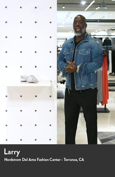 Dusty Block Heel Slide Sandal, sales video thumbnail