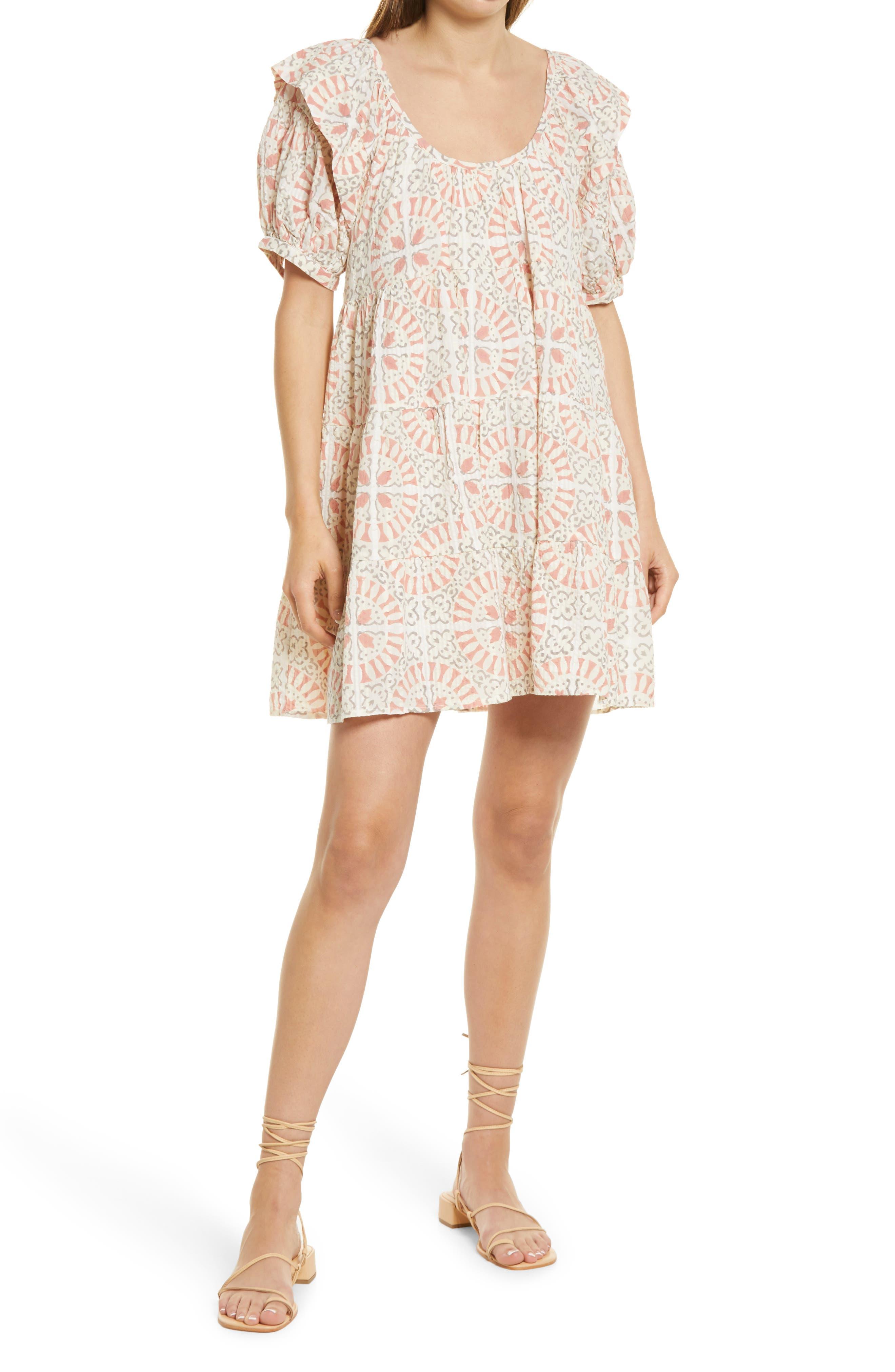 Ferris Block Print Babydoll Dress