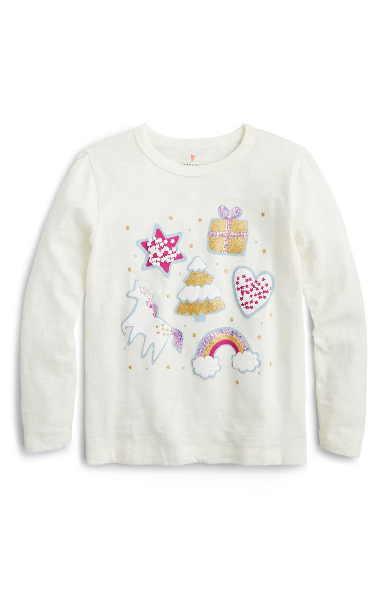 CREWCUTS BY J.CREW Holiday Favorites Long Sleeve Tee, Main, color, 100