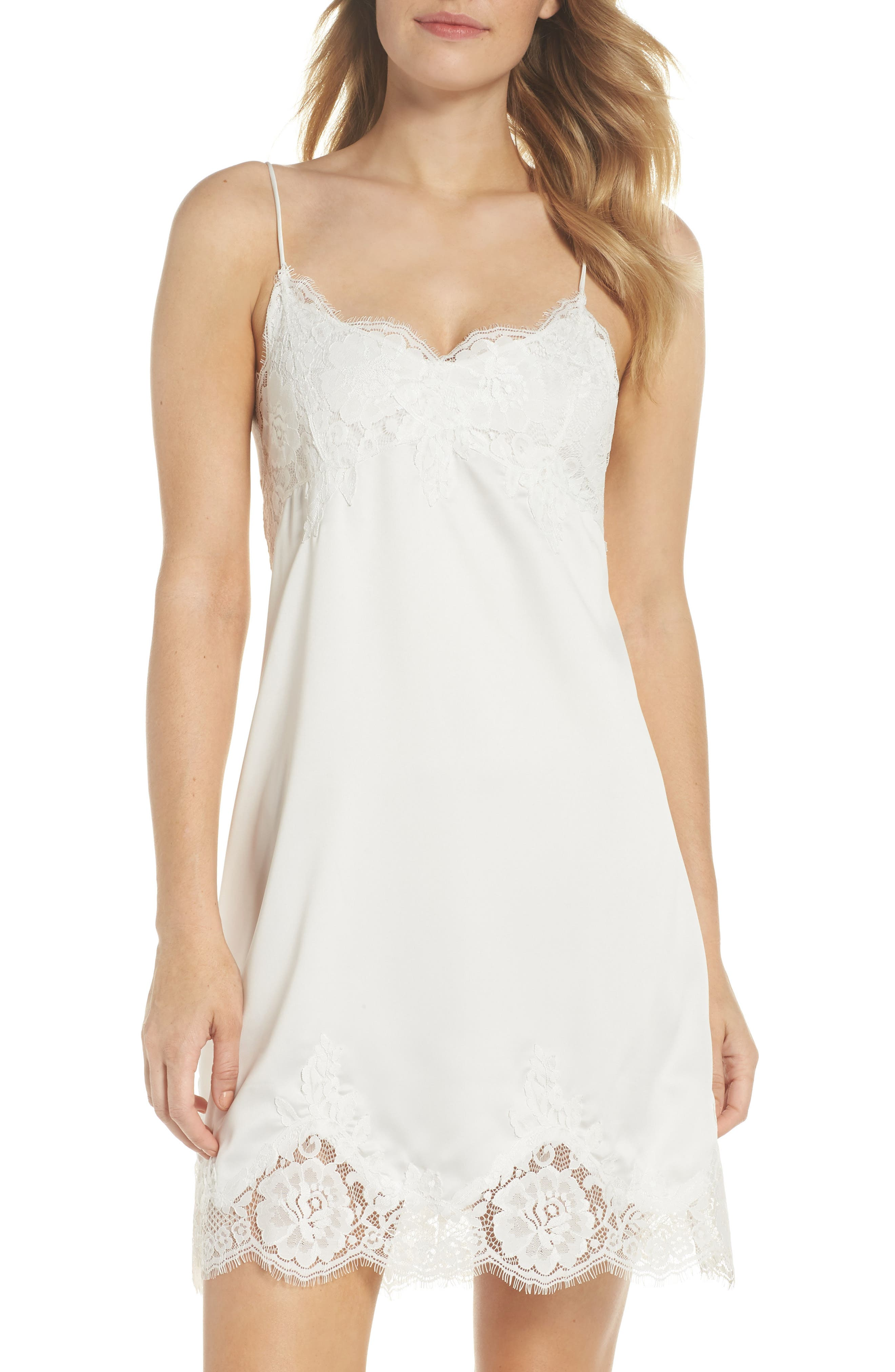 1920s Style Underwear, Lingerie, Nightgowns, Pajamas Womens Homebodii Olivia Chemise Size XX-Large - White $79.95 AT vintagedancer.com
