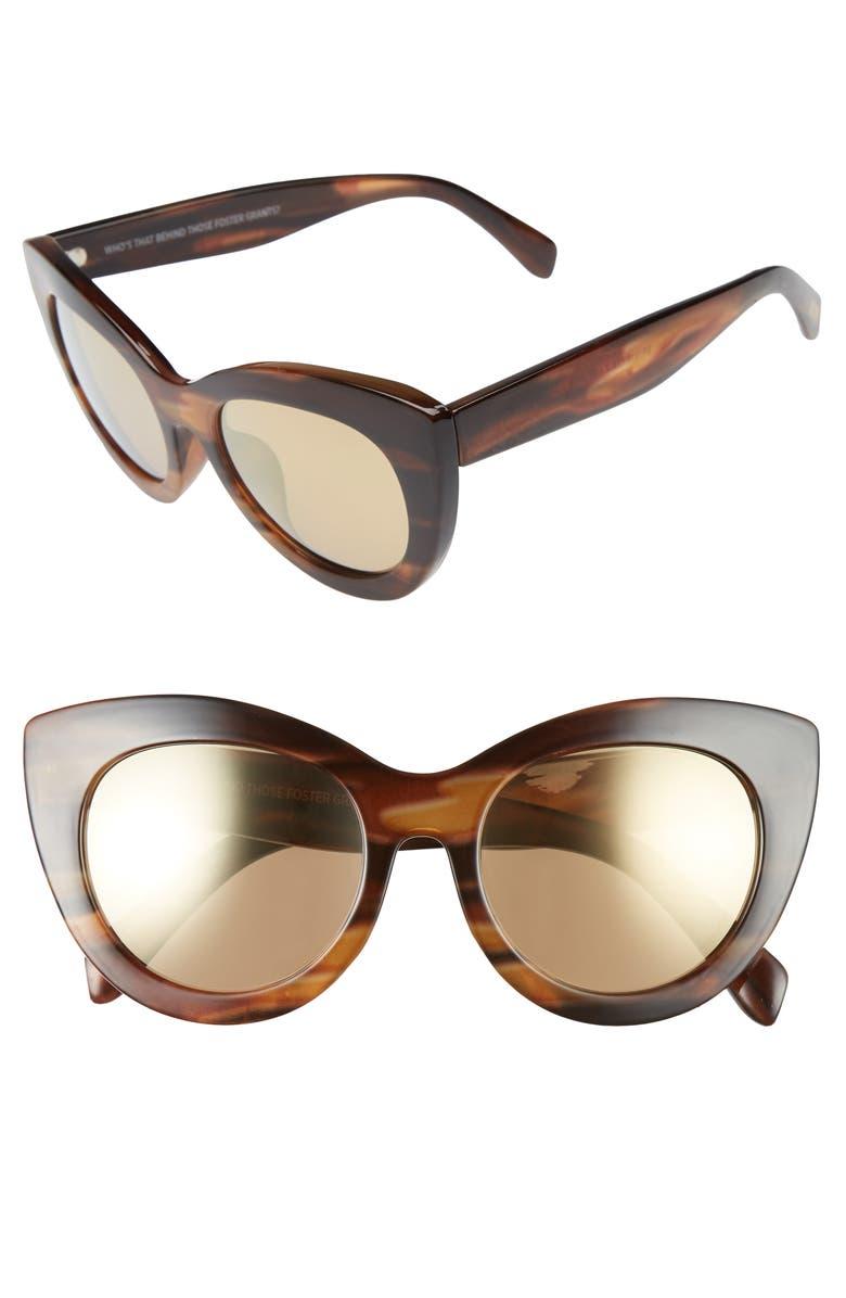 ITEM 8 TS.2 50mm Cat Eye Sunglasses, Main, color, 200