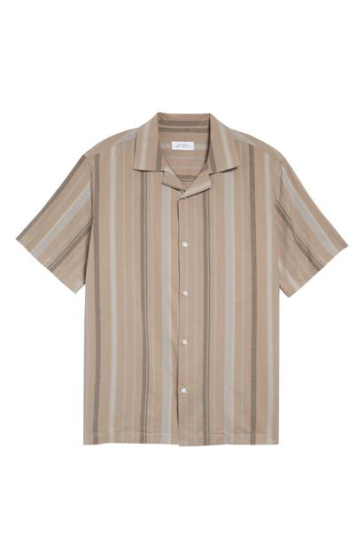 Saturdays Surf Nyc CANTY BAY STRIPE SHORT SLEEVE BUTTON-UP CAMP SHIRT