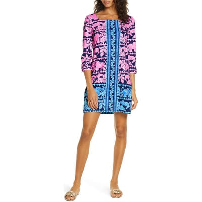 Lilly Pulitzer Bailee Print Floral Shift Dress, Blue