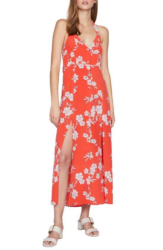 Sanctuary Garden Halter Neck Midi Dress In Not Bashful