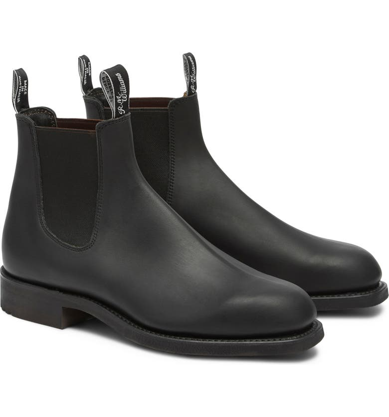 R.M. WILLIAMS Gardener Chelsea Boot, Main, color, BLACK