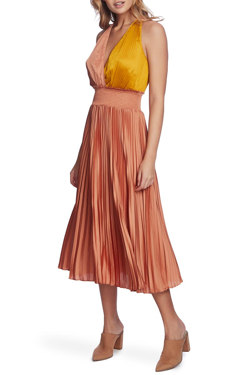 1.STATE Pleated Skirt, Main, color, ROMANTIC APRICOT