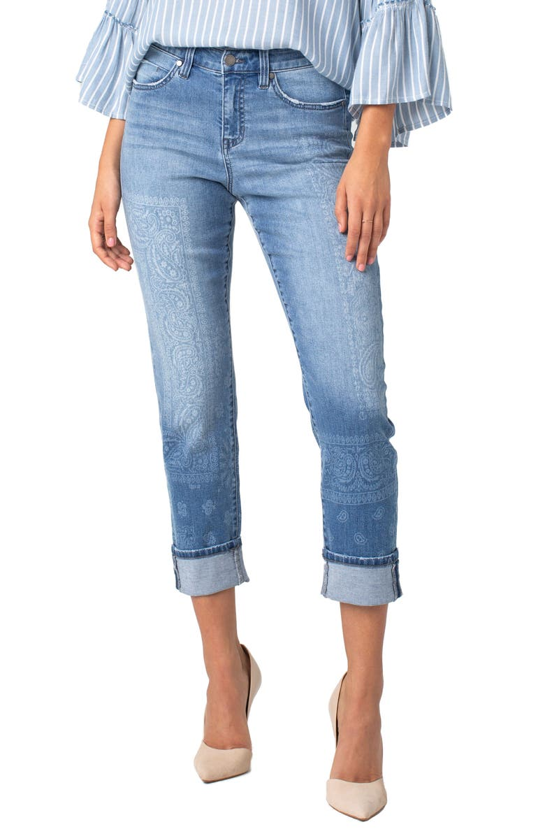 LIVERPOOL Marley Cuffed Girlfriend Jeans, Main, color, 420
