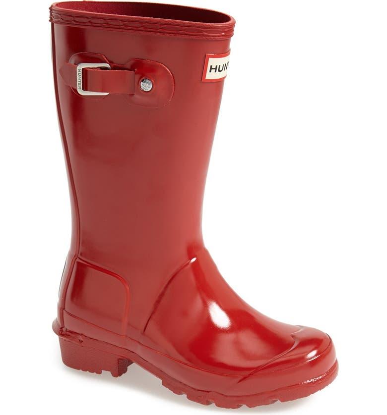 HUNTER Original Gloss Rain Boot, Main, color, MILITARY RED