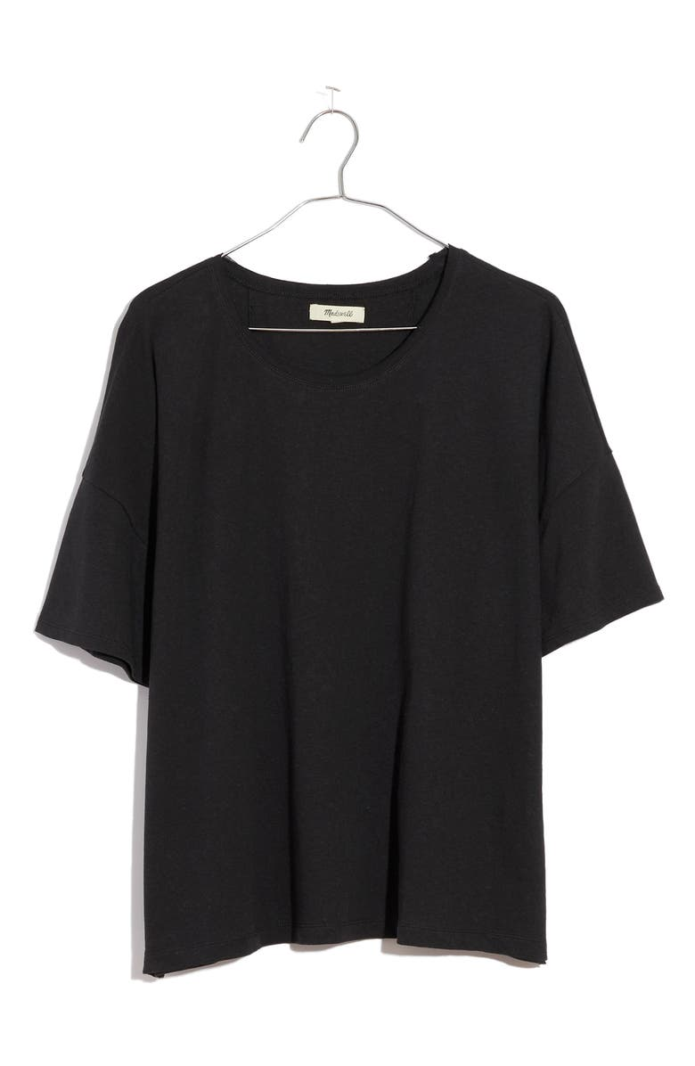 MADEWELL Raw Edge Hangout T-Shirt, Main, color, 001