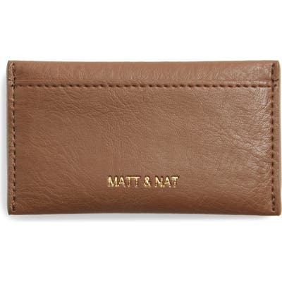 Matt & Nat Sal Faux Leather Card Case - Brown